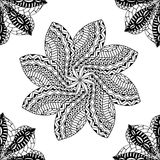 Seamless black pattern Stock Photo