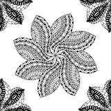 Seamless black pattern Stock Photo
