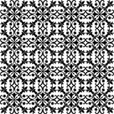 Seamless Black Pattern on White Background Royalty Free Stock Photo