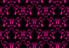 Seamless black and pink floral design Stock Photography