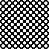 Seamless black polka dot pattern on black. Vector illustration. Eps 10 Stock Images