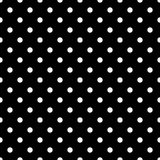 Seamless black polka dot pattern on black. Vector illustration. Eps 10 Royalty Free Stock Images