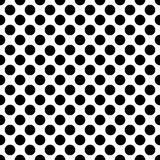 Seamless black polka dot pattern on white. Vector illustration. Eps 10 Royalty Free Stock Photos