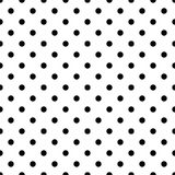 Seamless black polka dot pattern on white. Vector illustration. Eps 10 Royalty Free Stock Images