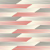 Seamless Black and Red Stripes Wallpaper. Minimal Wrapping Paper Royalty Free Stock Images