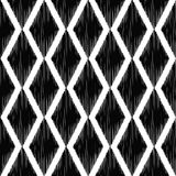 Seamless black rhombus tiles funny background Royalty Free Stock Images