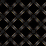 Seamless black ribbon and gold strip pattern Stock Images