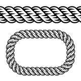 Seamless black rope symbol Stock Images