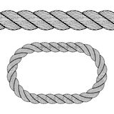 Seamless black rope symbol Stock Image