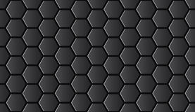 Seamless black shiny hi-tech hexagonal pattern vector. Seamless black shiny hi-tech hexagonal pattern Stock Photo