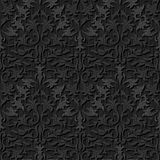 Seamless black silk wallpaper pattern Royalty Free Stock Image