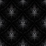 Seamless black silk wallpaper pattern Royalty Free Stock Images