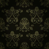 Seamless black and silver baroque ornament Royalty Free Stock Image