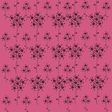 Seamless black simple flowers pattern Royalty Free Stock Photography