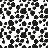 Seamless black spots background Stock Photography