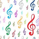 Seamless black treble clefs 2 Royalty Free Stock Image