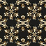 Seamless black vintage pattern Stock Photos