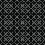 Seamless black wallpaper of paisley Royalty Free Stock Image