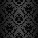 Seamless black wallpaper pattern Stock Photo