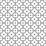 Seamless black and white abstract decorative pattern for coloring book Royalty Free Stock Image