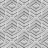 Seamless black and white abstract decorative pattern Royalty Free Stock Photography