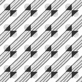 Seamless black and white abstract decorative pattern Royalty Free Stock Image