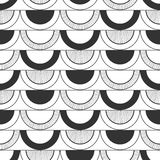 Seamless black and white abstract decorative pattern Stock Image