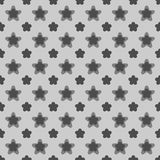 Seamless Black and White Abstract Flower Pattern Stock Image