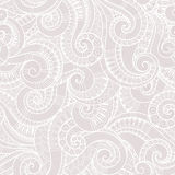Seamless black and white abstract hand-drawn pattern, waves back Stock Photo