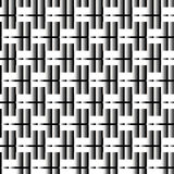 Seamless Black and White Abstract Modern Line Pattern Royalty Free Stock Photos
