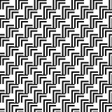 Seamless Black and White Abstract Modern Pattern Royalty Free Stock Photography