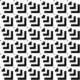 Seamless Black and White Abstract Modern Pattern Stock Photos