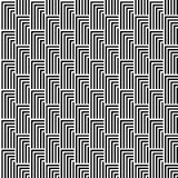 Seamless Black and White Abstract Modern Pattern Royalty Free Stock Photo