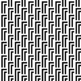 Seamless Black and White Abstract Modern Pattern Stock Photography