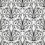 Seamless black and white abstract ornament Royalty Free Stock Images
