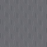 Seamless black and white abstract pattern isometric cubes. Vintage and retro 3d minimal geometric shape background. Eps 10 paper royalty free illustration