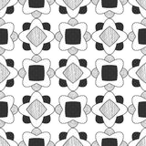 Seamless black and white abstract pattern Stock Images