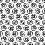 Seamless Black and White Abstract Pattern from Repetitive Concen Stock Image