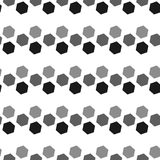 Seamless Black and White Abstract Pattern from Repetitive Concen Royalty Free Stock Images