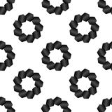 Seamless Black and White Abstract Pattern from Repetitive Hexago Royalty Free Stock Photography