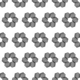 Seamless Black and White Abstract Pattern from Repetitive Hexago Stock Photo