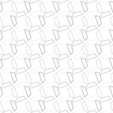 Seamless Black and White Abstract Pattern from Repetitive Trapez Royalty Free Stock Photography