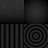 Seamless black and white abstract pattern set Royalty Free Stock Photography