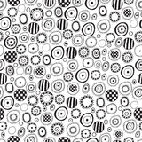 Seamless black and white abstract pattern. For textiles, interior design, for book design, website background Stock Photography