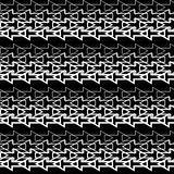 Seamless black and white  background with abstract geometric shapes. Print. Cloth design, wallpaper. Seamless black and white background with abstract geometric Stock Photo