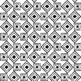 Seamless black and white  background with abstract geometric shapes. Print. Cloth design, wallpaper. Seamless black and white background with abstract geometric Stock Image