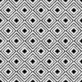Seamless black and white  background with abstract geometric shapes. Print. Cloth design, wallpaper. Seamless black and white background with abstract geometric Stock Photography