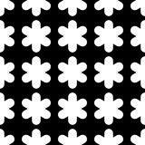 Seamless black and white background with decorative snowflakes. Flat design. Textile rapport Royalty Free Stock Photo