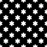 Seamless black and white background with decorative snowflakes. Flat design. Stock Images