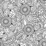 Seamless black and white background. Royalty Free Stock Images